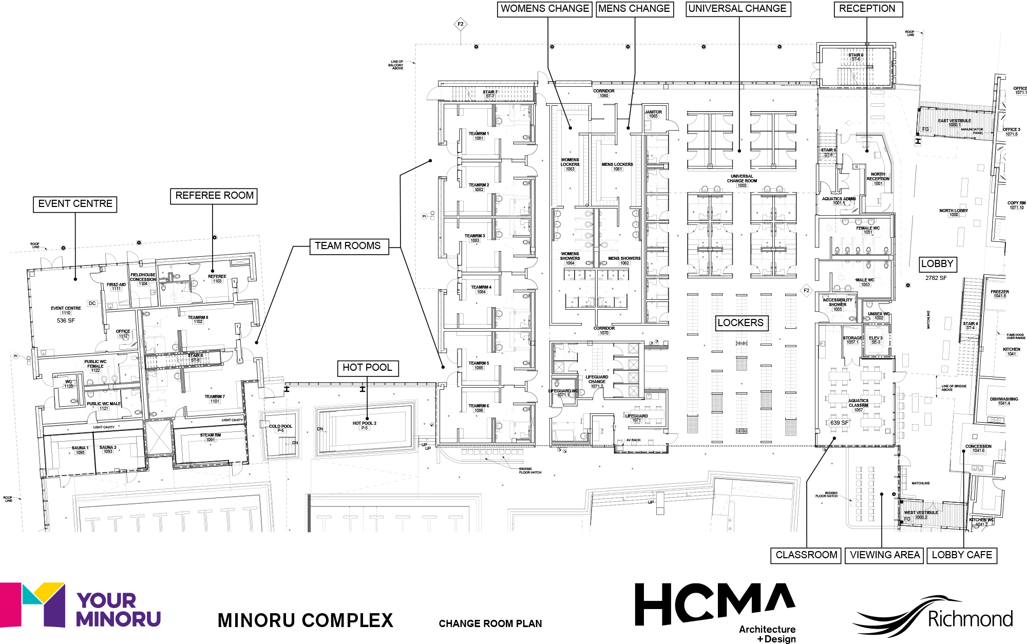Minoru Complex - Change Room Plan - January 2016
