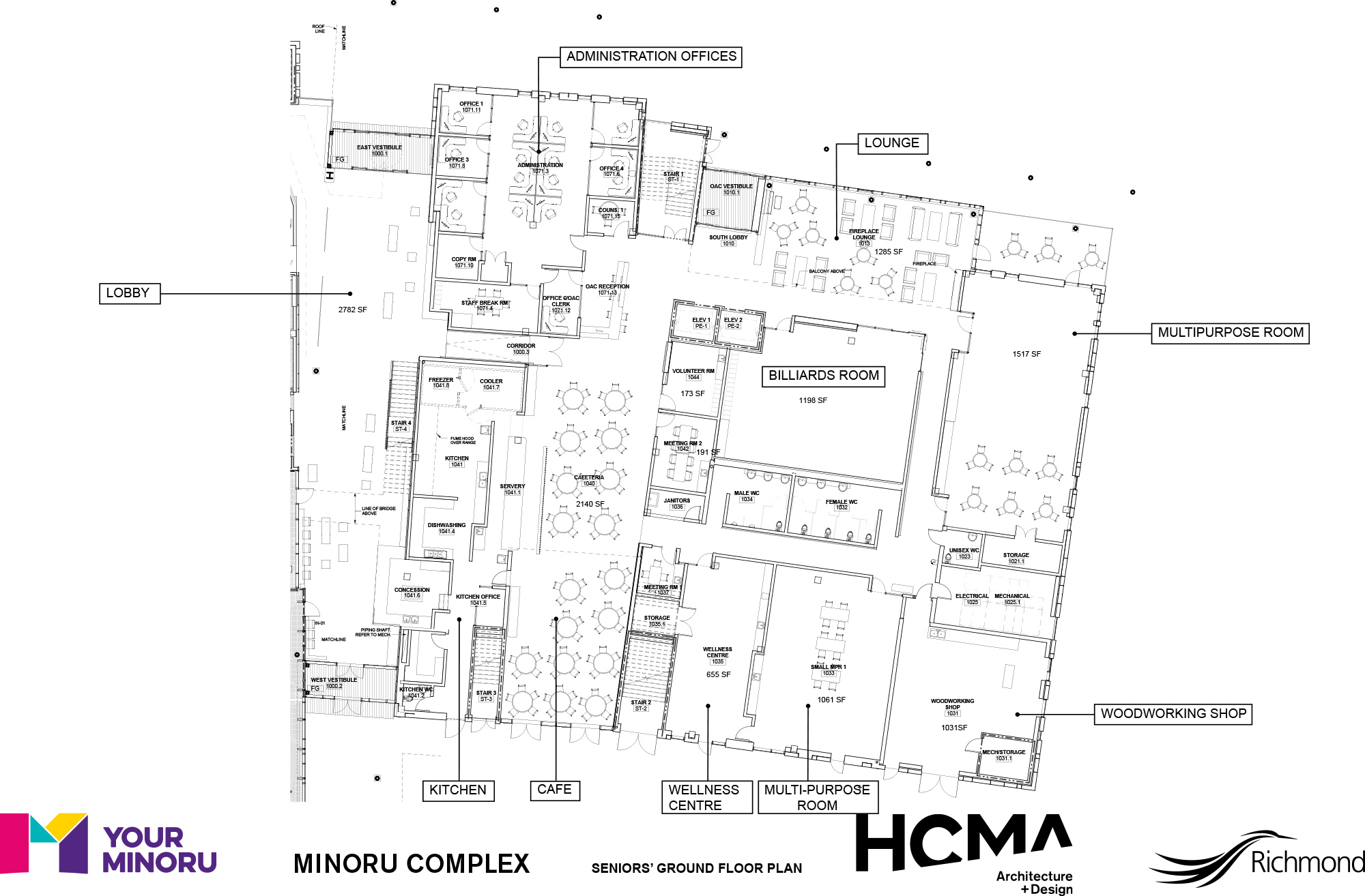 Minoru Complex - Seniors Ground Floor Plan - January 2016