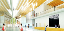Rendering of Minoru Complex Main Lobby - October 2014