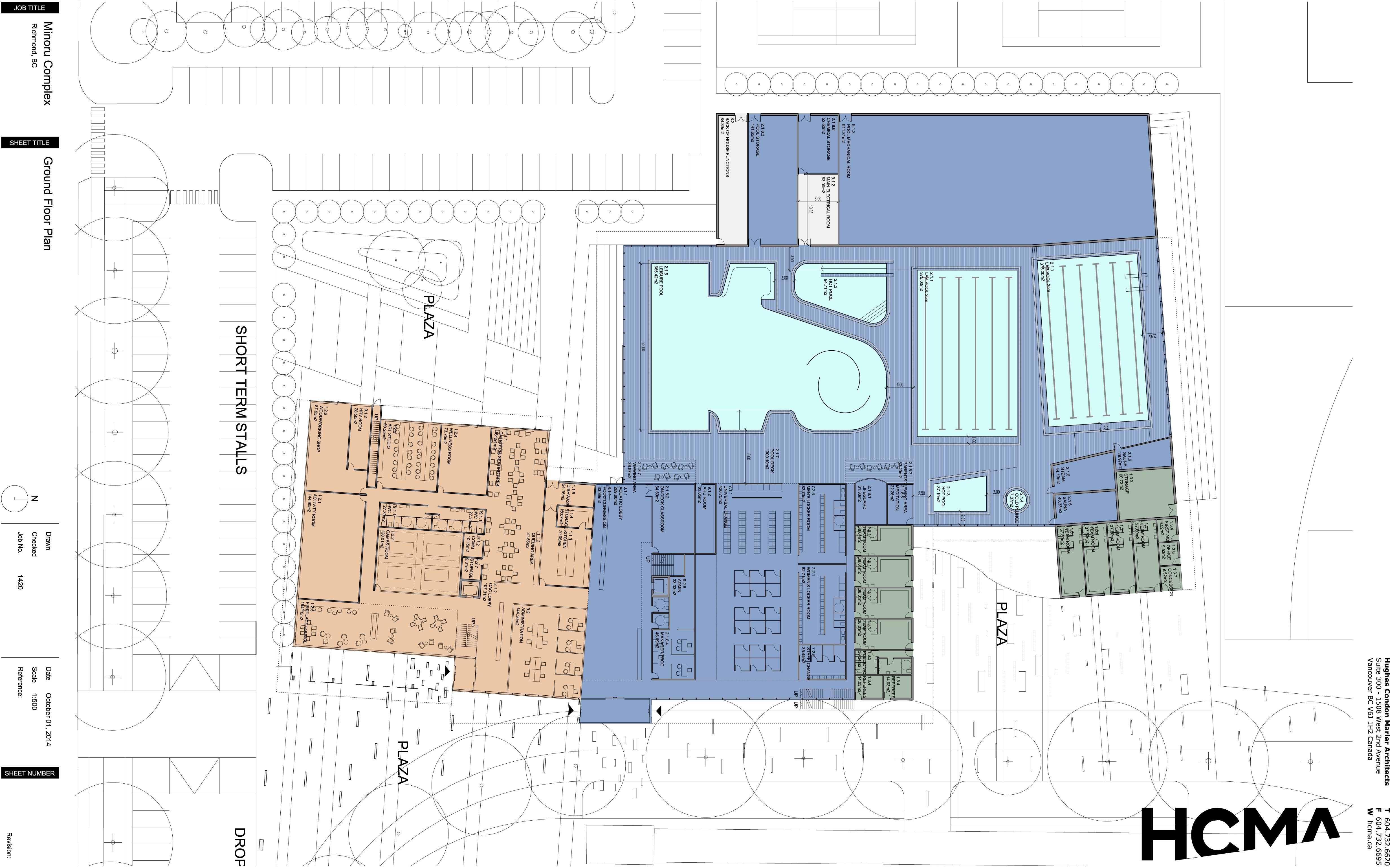 Minoru Complex Ground Floor Plan - October 2014