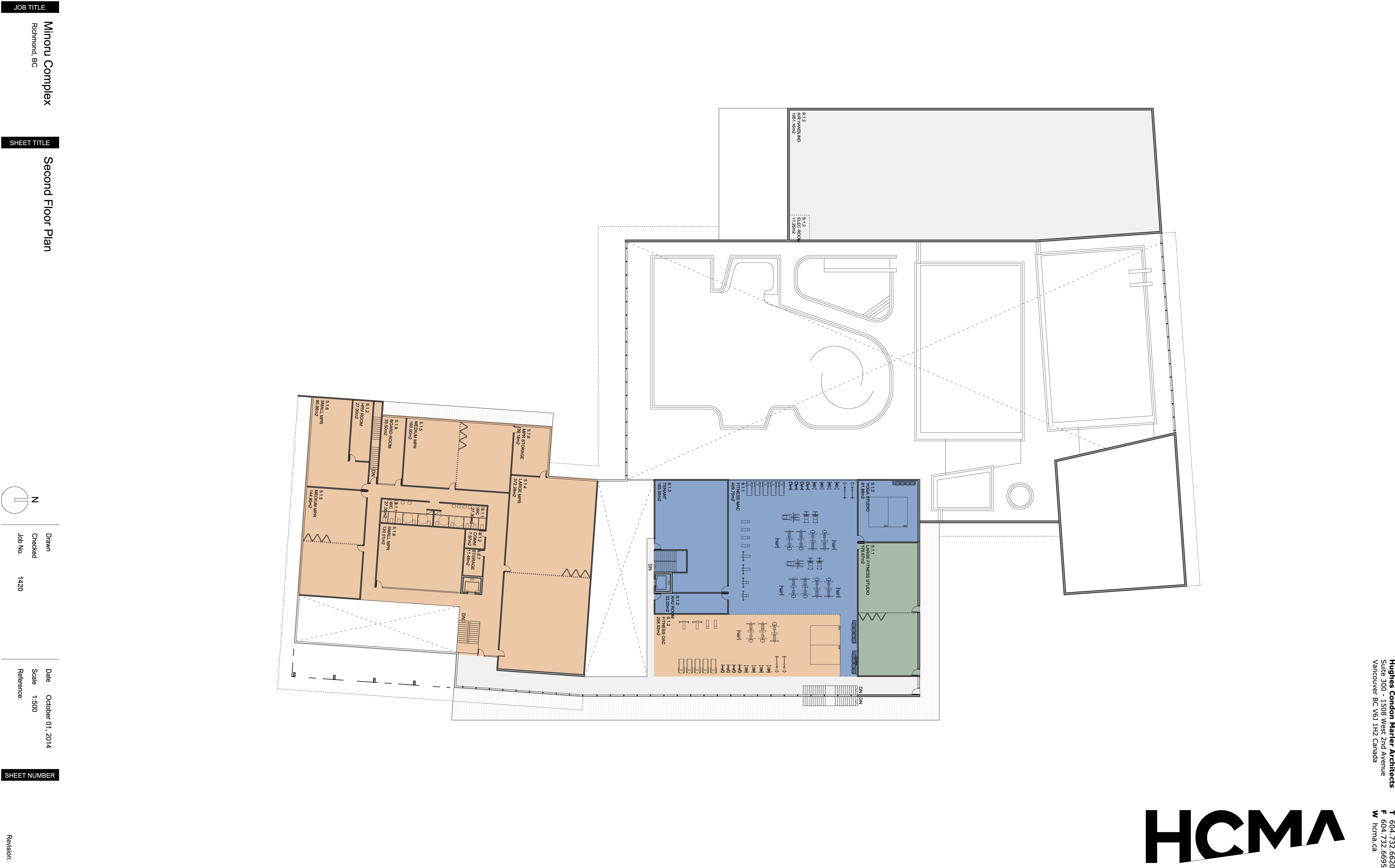 Minoru Complex Second Floor Plan - October 2014