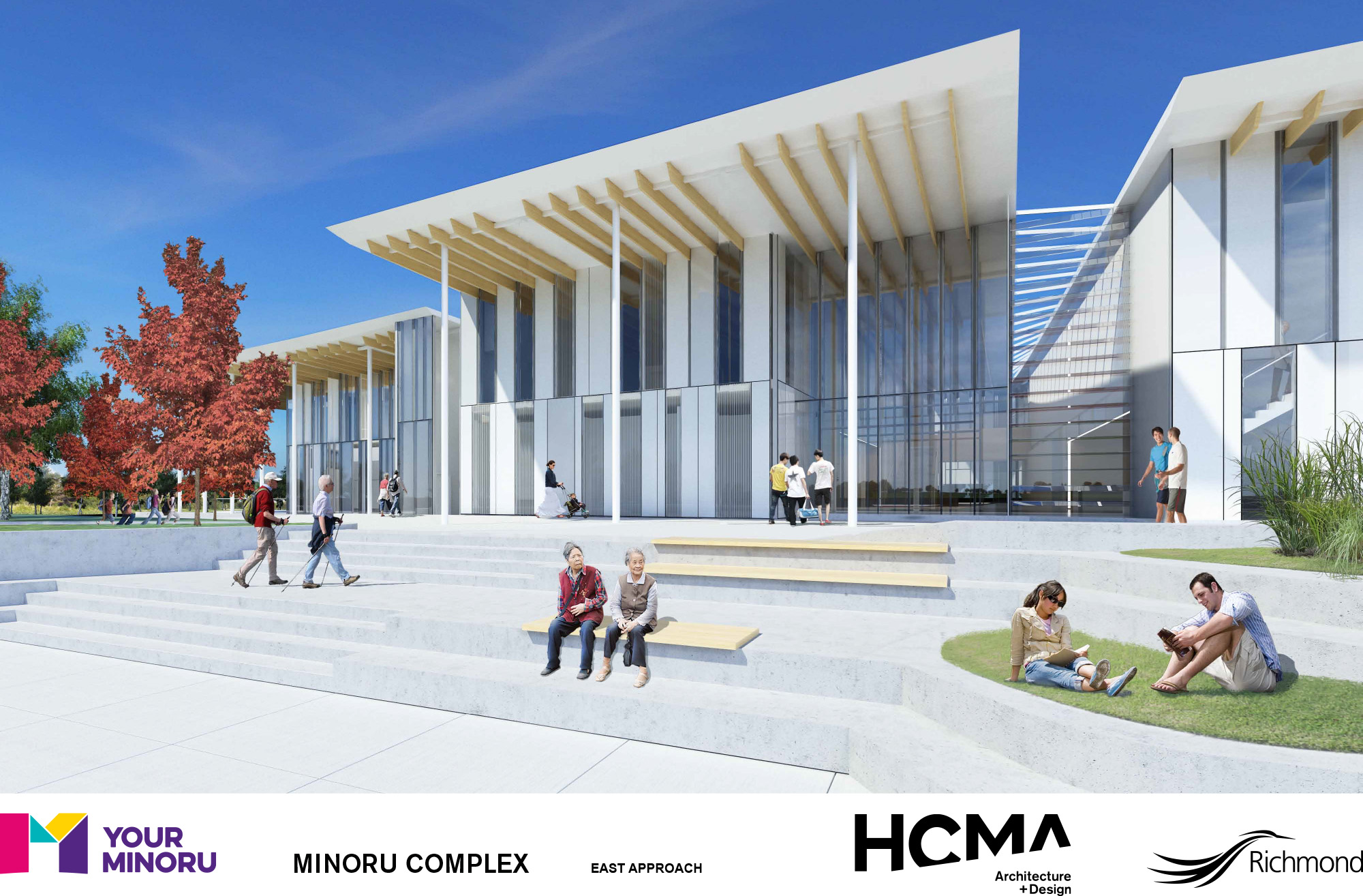 Rendering of Minoru Complex - East approach - January 2016