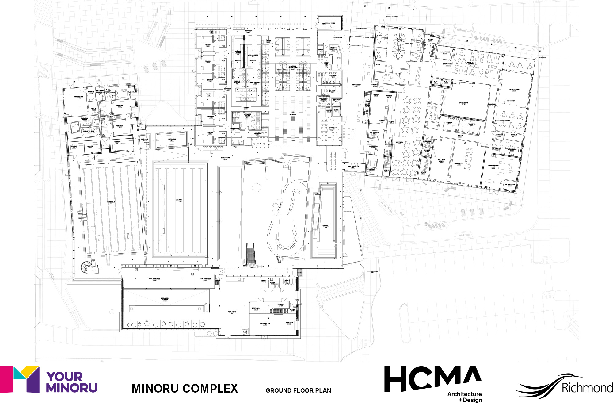 Minoru Complex - Ground Floor Plan - January 2016