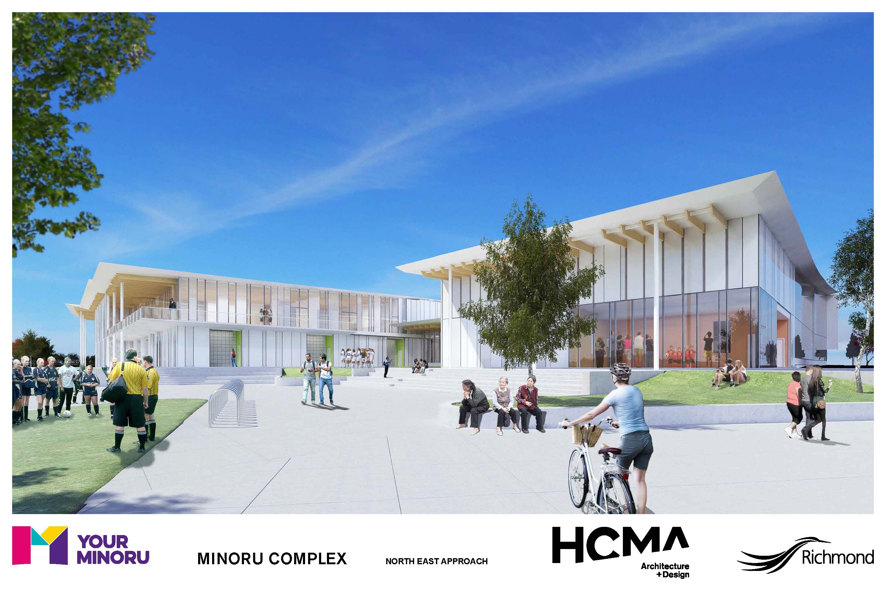 Rendering of Minoru Complex - North east approach - January 2016