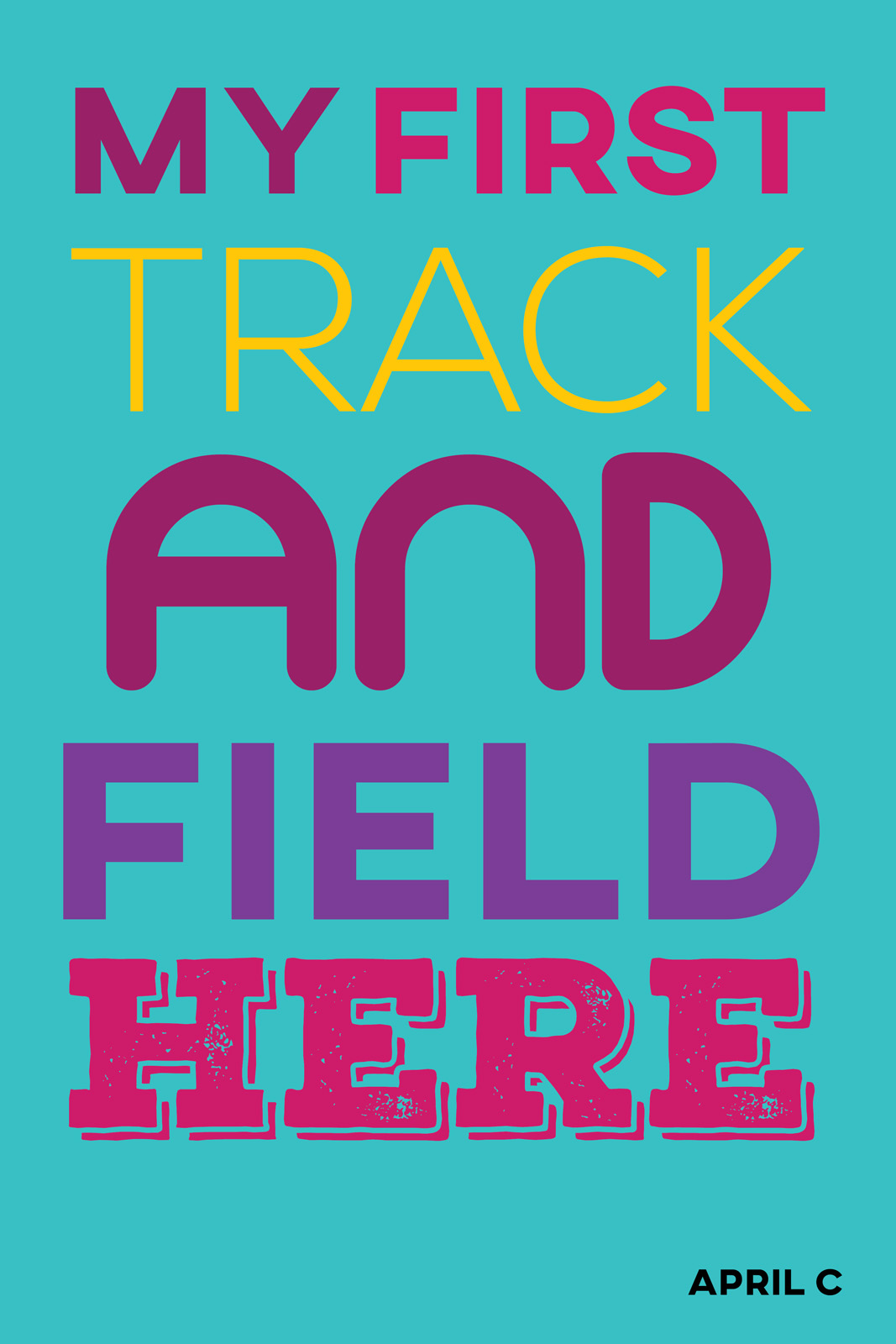 My first track and field here