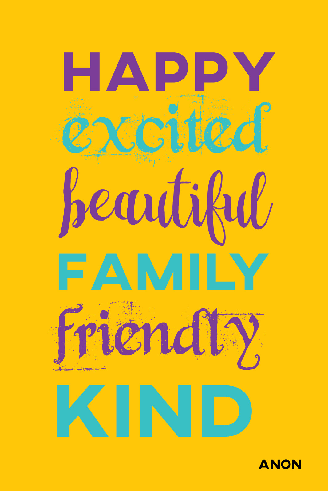 Happy excited beautiful friendly family kind