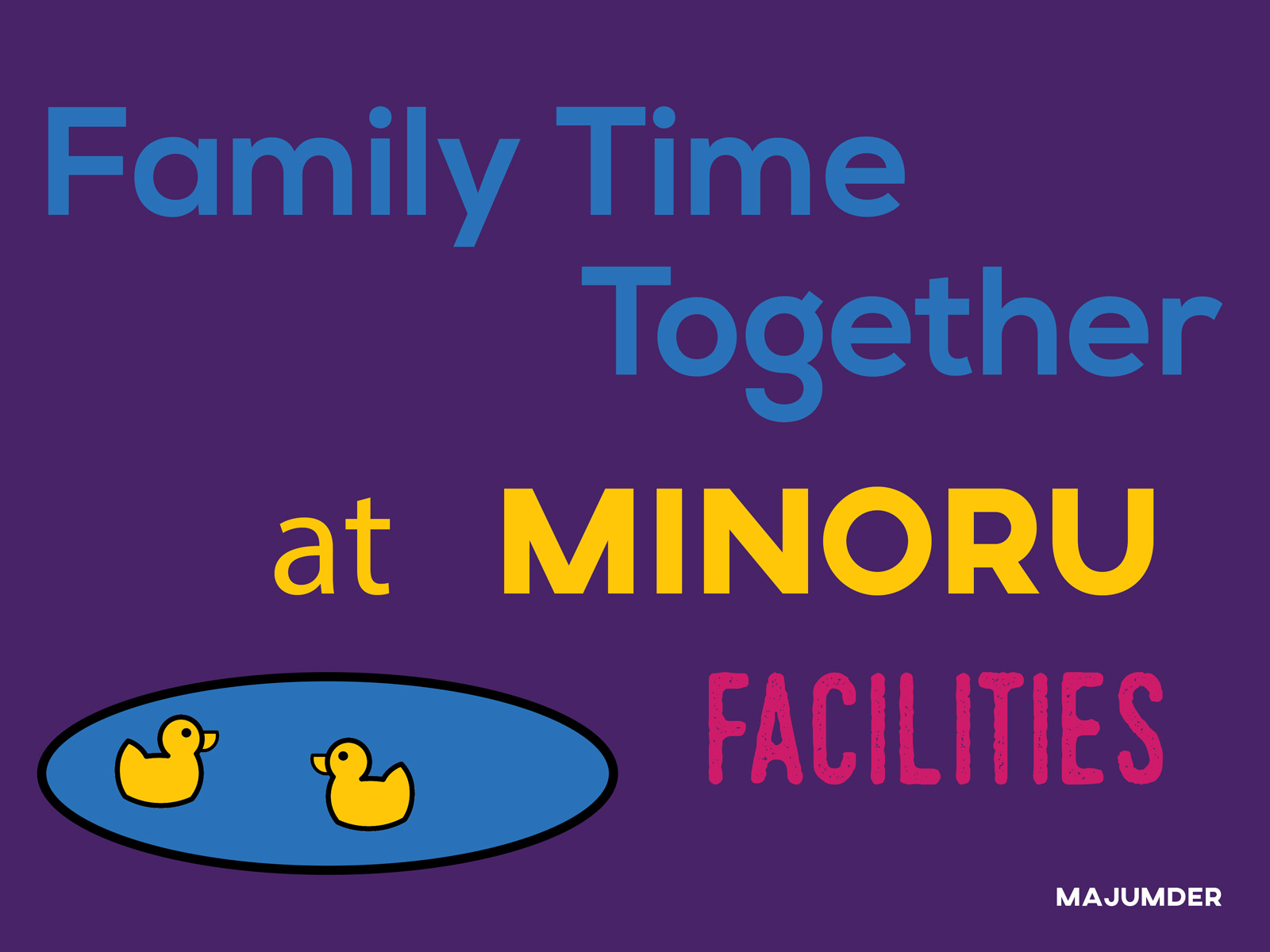 Family time together at Minoru facilities
