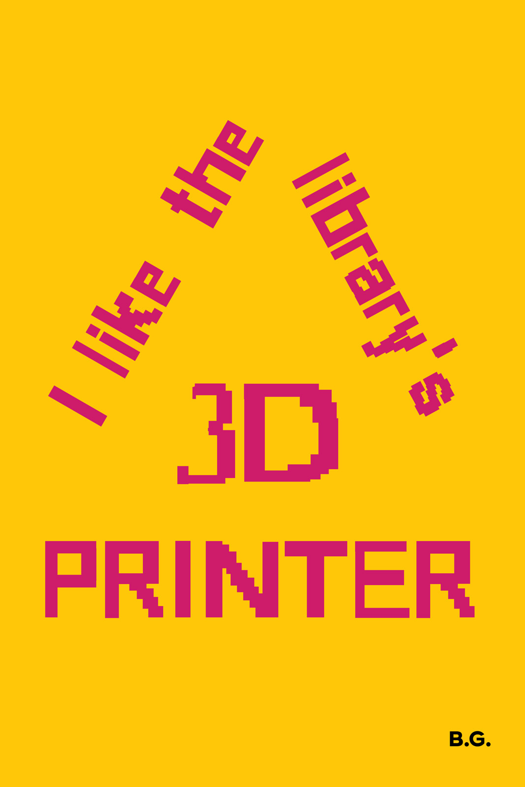 I like this library's 3d printer